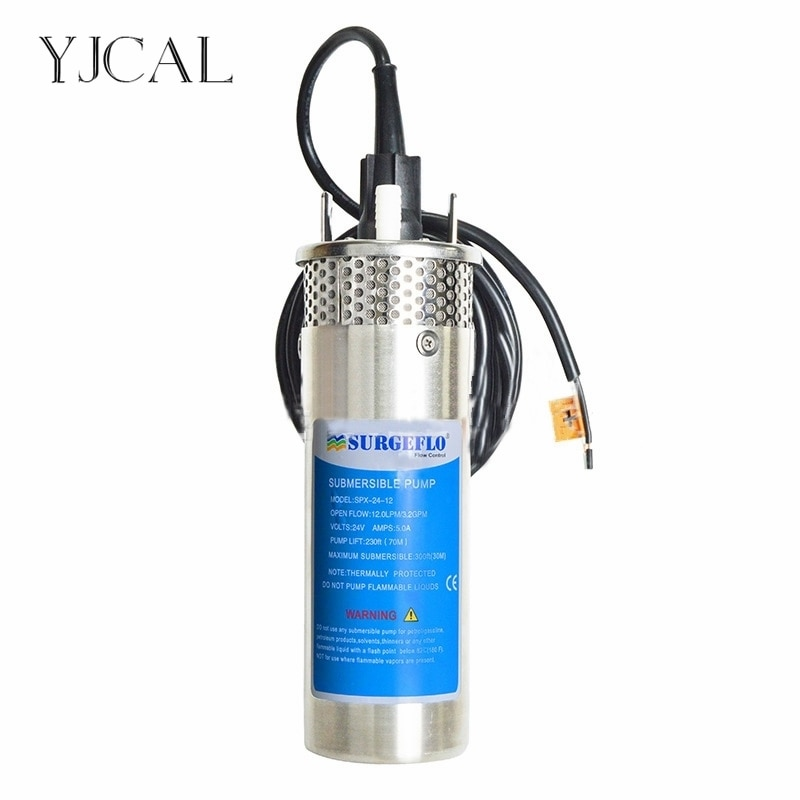 dc 12v 24v mini solar power high pressure water pump 70 meter lift diaphragm submersible outdoor garden fountain deep well Solar Water Pump DC 12V 24V High Pressure Solar Power Pump Submersible Stainless Steel Well Pump Electric Diaphragm Garden