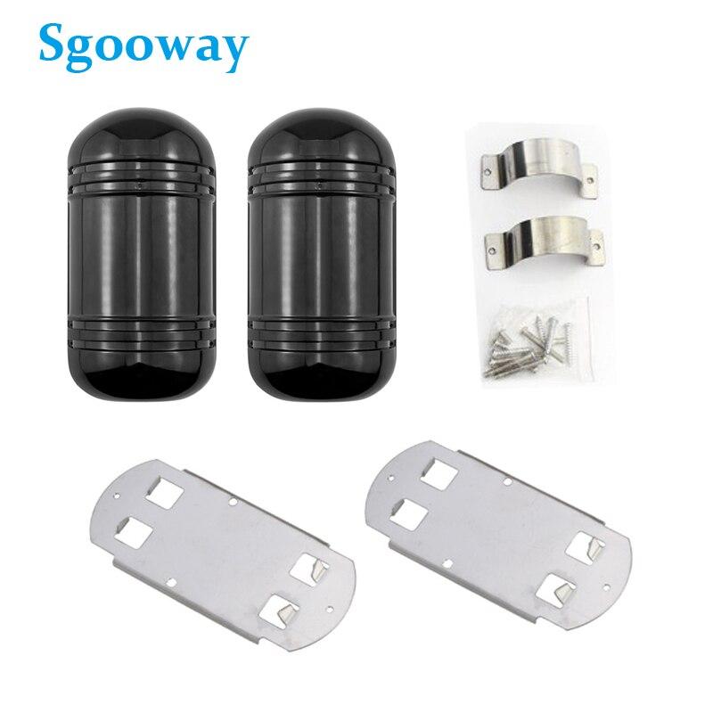 Sgooway 100M Fascio di Allarme del Sensore di wired Dual Fotoelettrico del Fascio Rilevatore A Infrarossi Ir Barriera esterna impermeabile