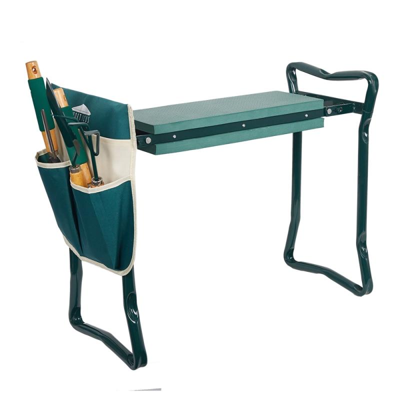 Garden Kneeler and Seat Folding Stainless Steel Garden Stool with Tool Bag EVA Kneeling Pad Gardening Gifts Supply