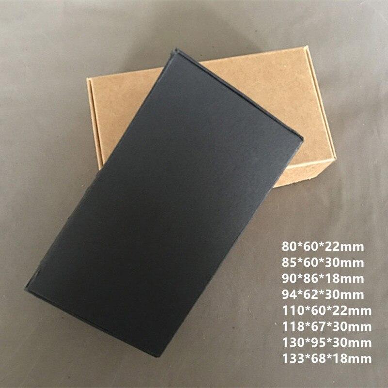 50 pçs/lote-Preto Caixas De Papel Do Partido, Caixas De Papelão De Embalagem de Aeronaves, Handmade Soap/Caixas de Doces/Presente