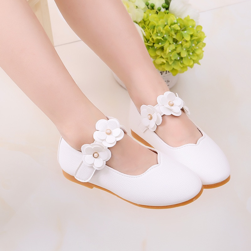 1-12 Year Old Kids Baby Toddler Flower Children Wedding Party Dress Princess Leather Shoes For Girls School Dance Shoes White ssai kids girls princess shoes lace flowers girls leather shoes children dance dress shoes baby girls wedding party shoes