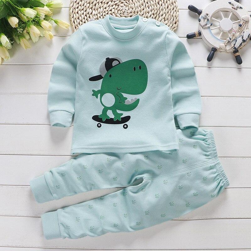 Комплект детской одежды с героями мультфильмов, хлопковая одежда для маленьких мальчиков и девочек, комплект одежды для детей, осень 2019