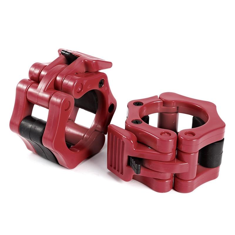 1 par de 50mm olímpica bloqueo barra Spinlock collares abrazadera barra de pesas elevación giro bloqueo nuevo 3 colores portátil