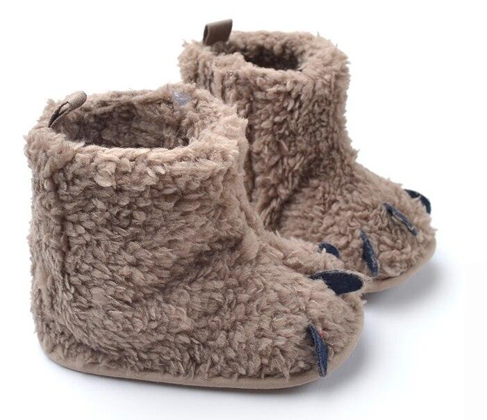 Cute Baby Monster Paw Design botas de nieve moda Niño invierno zapatos suaves botas de algodón cálido infantil envío gratis Envío Directo