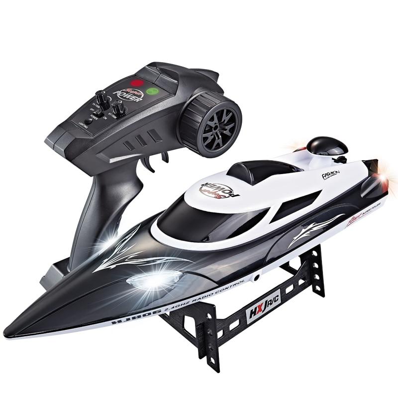 قارب سباق بجهاز تحكم عن بعد عالي السرعة ، 35 كم/ساعة ، 200 متر ، مسافة تحكم ، شحن سريع بنظام تبريد مائي HJ806