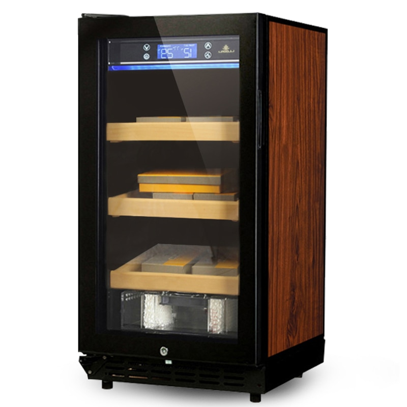 Cigar Cabinet Freezer Constant Temperature Wine Tea Humidor Three-Layer Parquet Luxury Cigar Storage Cabinet Fridge