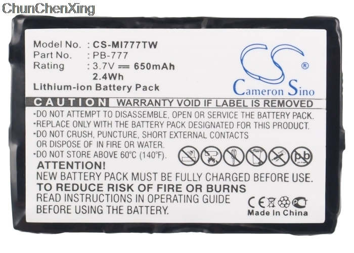 Cameron Sino 650mAh batería de la batería PB-777 para Midland 777 PMR446 + v