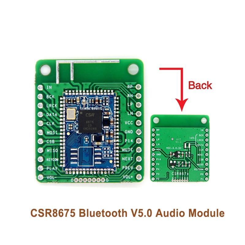 APTX-HD compresión sin pérdidas I2S fibra SPDIF CSR8675 Bluetooth V5.0 Módulo de Audio Bluetooth de baja potencia