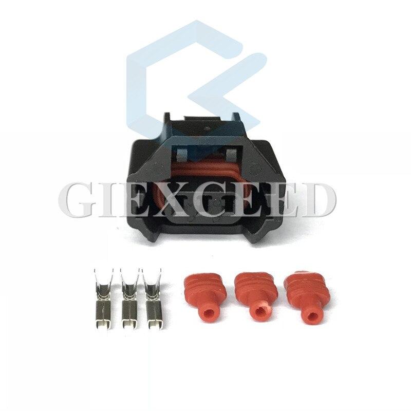 2 conjuntos de 3 pinos 7223-6536-30 conector do sensor da árvore de cames da frente do automóvel plugue do interruptor de pressão do condicionamento de ar fêmea para teana hyundai