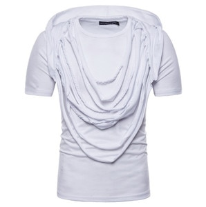 Summer Trend Complex Braided Hip Hop Tshirt Men Casual Short Sleeve Tops Tee Europe and America Street Design Men's Clothing