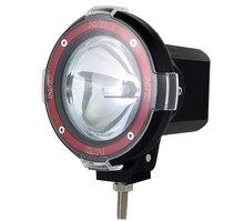 Skuer projecteur 55W 7 pouces hors route 6000K   Lampe au xénon caché, projecteur de véhicule hors route Super lumineux, toit de la lampe auxiliaire