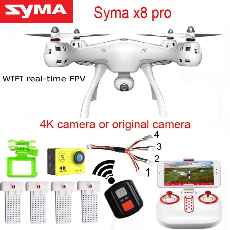 طائرة بدون طيار SYMA X8PRO GPS ، WIFI ، FPV ، مع كاميرا 720P HD أو في الوقت الفعلي ، H9R 4K ، 6 محاور ، صيانة الارتفاع x8 pro RC Quadcopter RTF