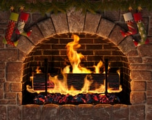 HUAYI Photograph Backdrop Vinyl Backdrop Fireplace Decoration for Christmas Party Photo Background Photo Studio XT-7186