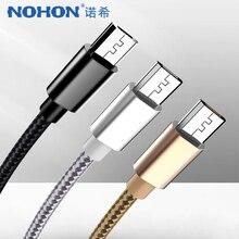 NOHON Micro USB szybki kabel ładowania dla Samsung S7 S6 uwaga 4 5 krawędzi dla Huawei Xiaomi Redmi 4X 4A Oppo Android telefon kable danych