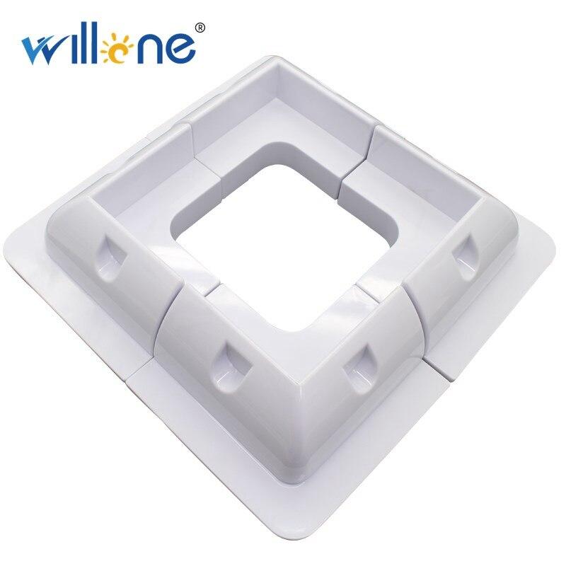 Willone 4 قطعة ABS الشمسية لوحة تصاعد بين قوسين