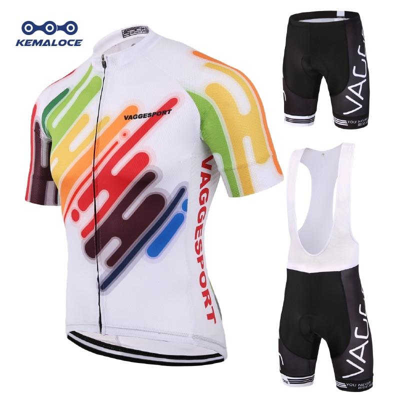 Kemaloce-Conjunto de Ropa para Ciclismo, camisetas y conjuntos de camisetas de verano para hombre para Ciclismo de montaña o de carretera, 2019