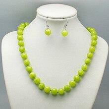 Ensemble collier perles 1811 fermoir magnétique, vert lime, orange, aqua, marine-Balouli