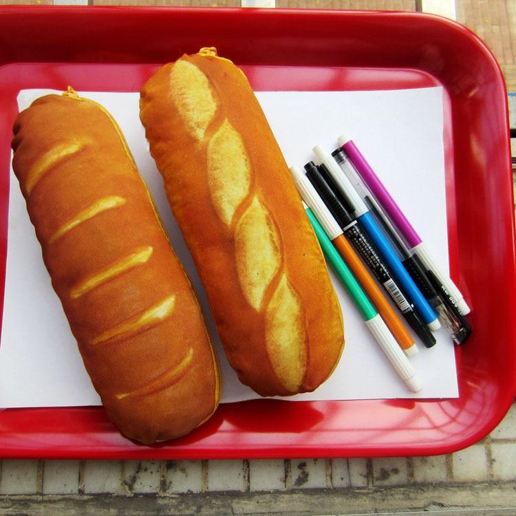 1Pc/Sell Bread Pencil Case Fabric Cute School Supplies  Stationery Gift  School Cute Pencil Box Pencilcase Pencil Bag