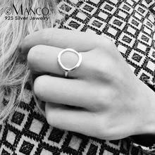 E-Manco минималистичные 925 серебряные кольца для пальцев простые серебряные обручальные кольца для женщин ювелирные украшения Классические Femme подарки
