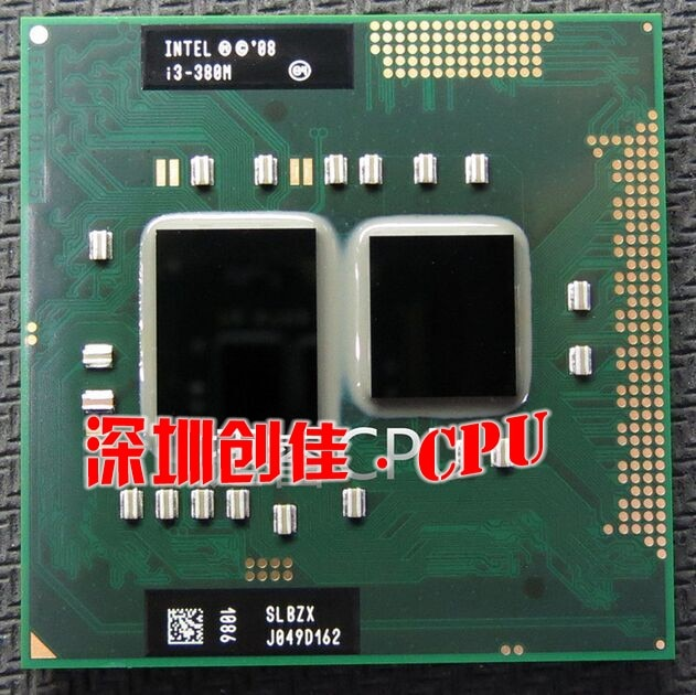 Procesador Intel core Original I3 380M 3M caché 2,5 GHz ordenador portátil Cpu procesador envío gratis I3-380M