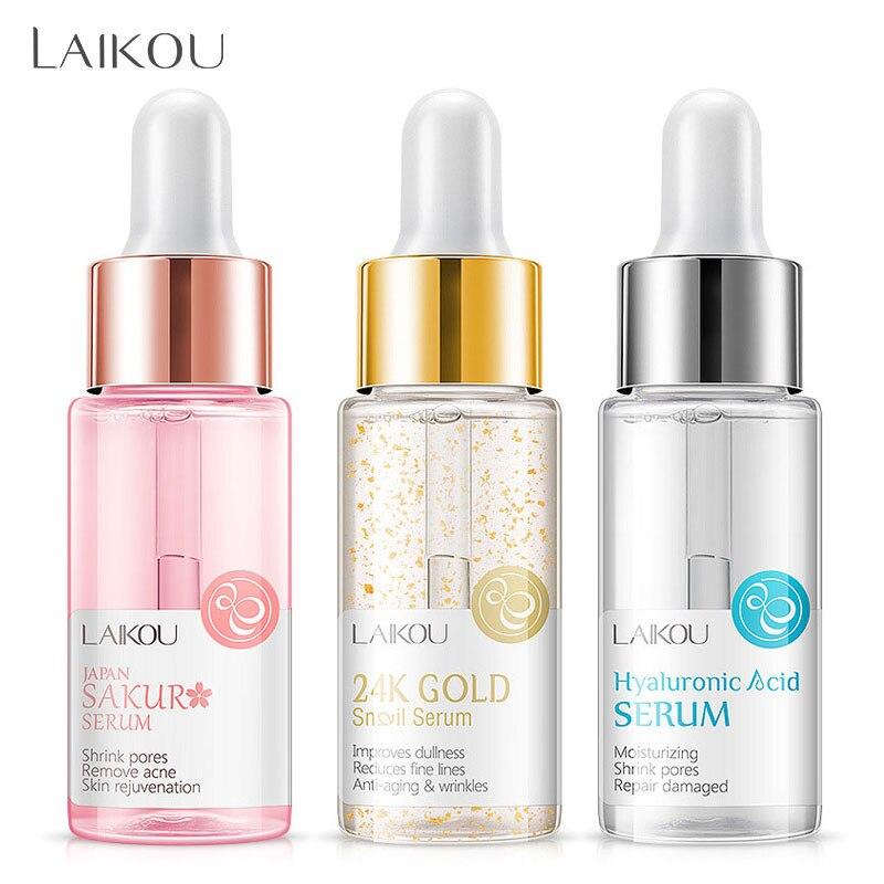 LAIKOU основа для макияжа увлажняющая эссенция 24k Gold Elixir контроль жирности Профессиональная Матовая сыворотка серия бренд основа грунтовка 1 шт