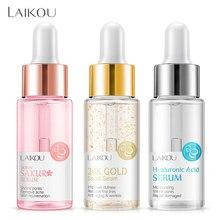 Laikou base de maquiagem essência hidratante 24k ouro elixir óleo controle profissional matte série soro marca fundação primer 1pcs