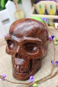 439 grams of natural red jade carving crystal skull to heal