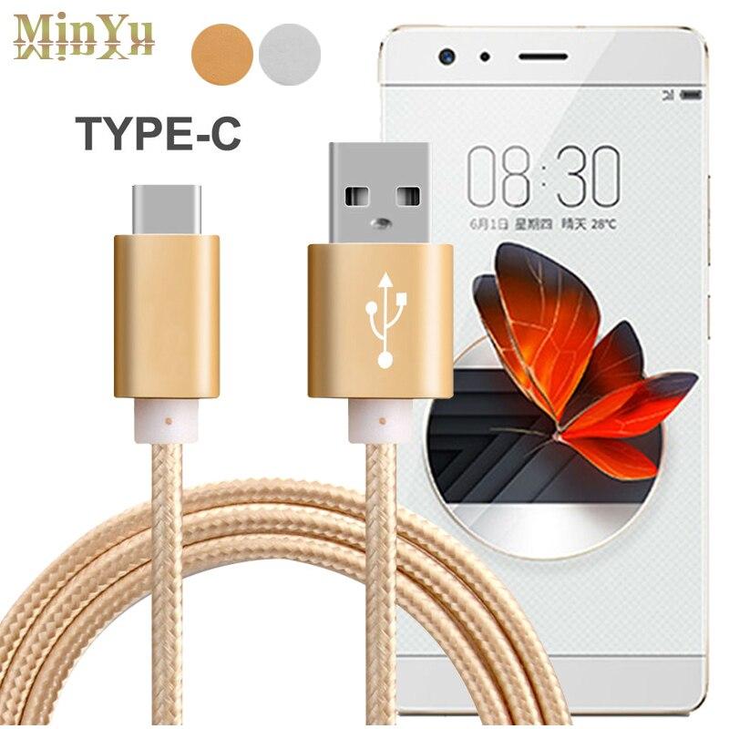 1 metro, usb 3.1 tipo c sincronização de dados & cabo de carga para zte nubia m2 play/z17 mini/z11 minis nx549j/n1 USB-C cabos de carregamento
