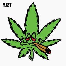 Yzzt-autocollant réfléchissant sur les feuilles et la fumée, 12.7x12.1CM, pour fenêtre de voiture, C1-7730