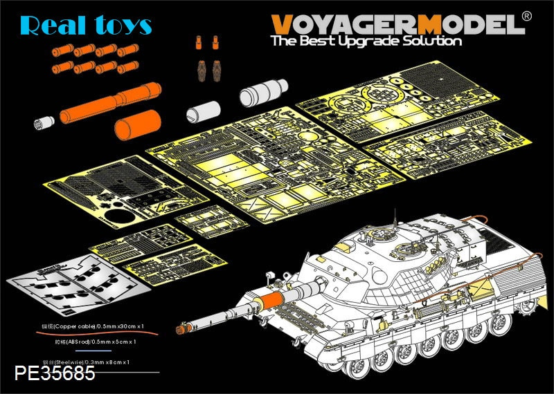 Modelo Voyager 1/35 PE35685 moderno canadiense leopardo C2 MBT (pistola humo descargador de antena base incluir) (Para takinm 2004)