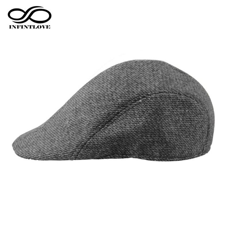 Infinitlove vintage masculino algodão listra plana gatsby boné condução sun cabbie baker newsboy arte hat (um tamanho 58cm)