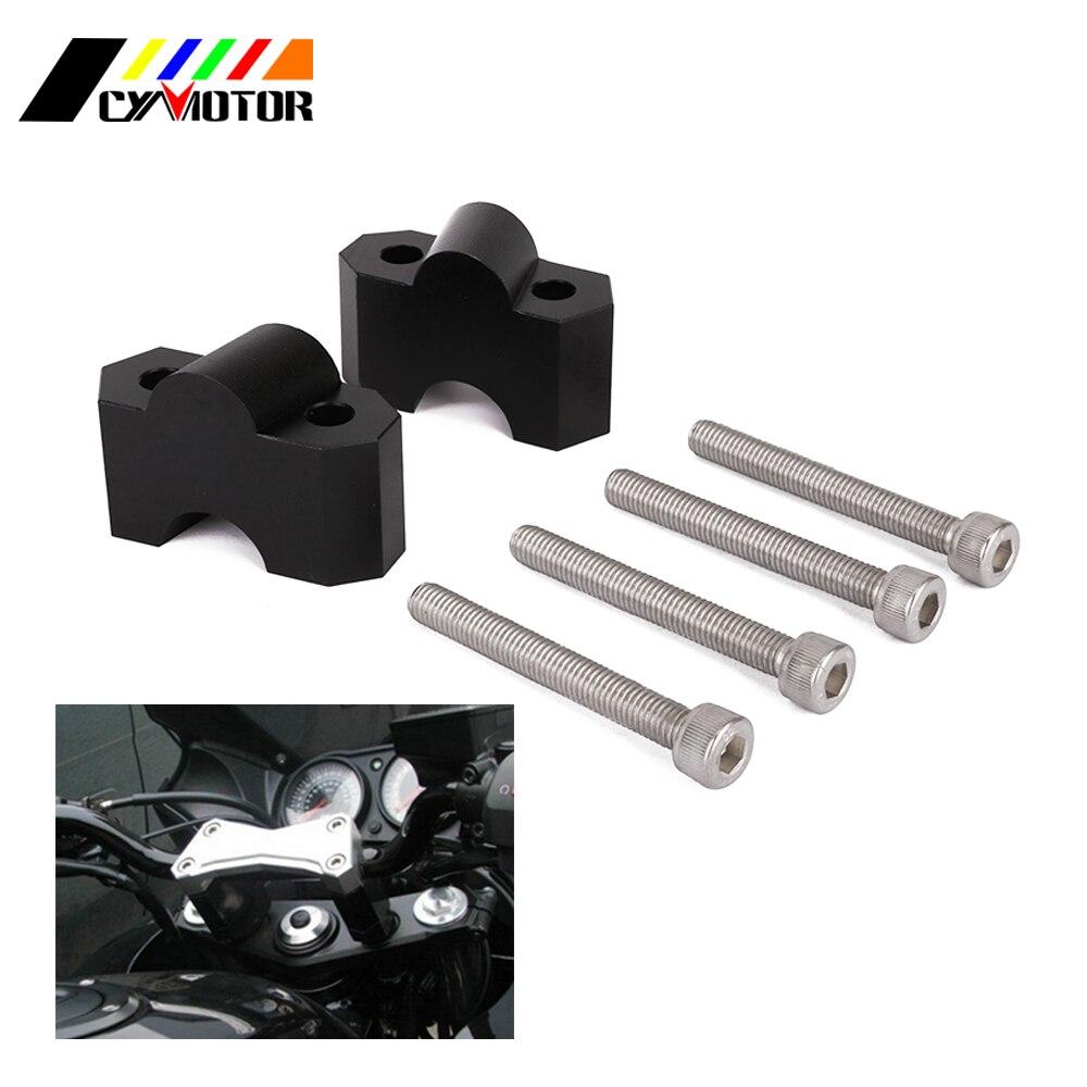 Motorcycle CNC Aluminum HandleBar Clamp Riser Adaptor For KAWASAKI Z750 Z1000 Z 750 1000 04 05 06 07 08 09 10 11 2004-2011