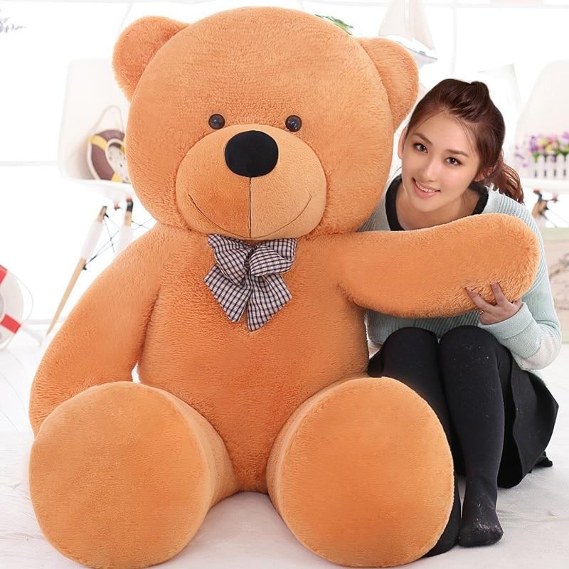 Giant teddy bear soft toy 160cm large big stuffed toys animals plush life size kid  baby dolls toy Christmas girl birthday gift