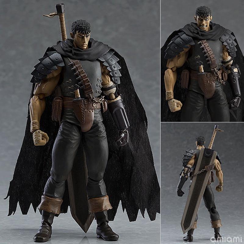 Anime Berserk Guts Black Swordsman Assemble Change Face Ve.  Figma 359 PVC Action Figure Model 17cm