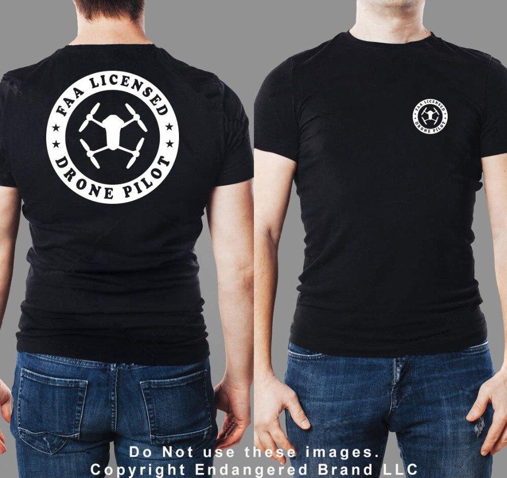 Dron Faa Pilot redondo Dji Mavic Camiseta de manga corta para hombres 3D Tops Tee Casual Streetwear camiseta vestido
