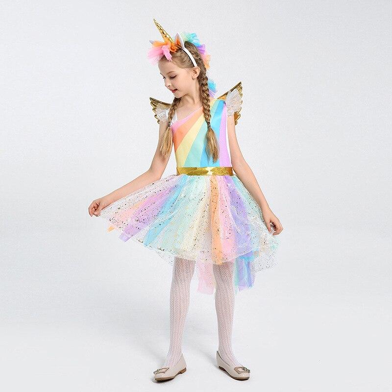 Tinkerbell Rainbow Fairy Tinker Girls Child Book Week disfraz de fantasía incluye vestido + alas + diadema