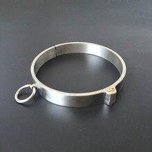 Collier bdsm acier esclave collier bdsm bondage contraintes fétiche porter avec clé verrouillage cou collier jeux de sexe jouets sexuels pour couples