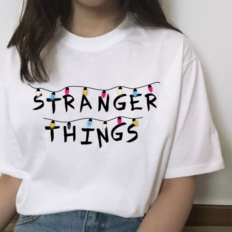 Extraño cosas 3 mujeres camiseta harajuku Eleven mujer hip hop mujer camiseta streetwear ropa divertida 2019 dibujos animados Casual