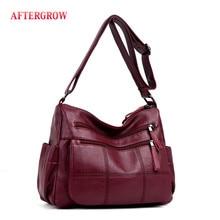 Doux femmes lavé cuir sac de messager de luxe sac à main sac bandouli re femme concepteur femme bandoulière Vintage sacs à bandoulière tas