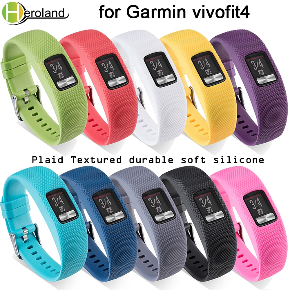 Replacement soft Silicone Watch Band For Garmin VivoFit 4 wristband Bracelet smart sport watch Strap wearable accessories durabl