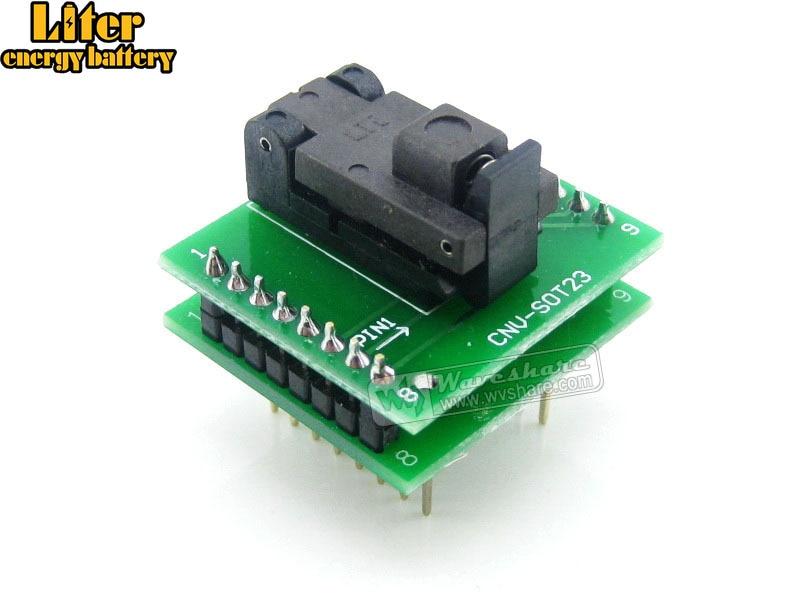 SOT6 a DIP6 (B) adaptador de programación de enchufe de prueba de pozos 0,95mm paso SOT6 SOT-23-3 SOT-23-5 paquete SOT-23-6