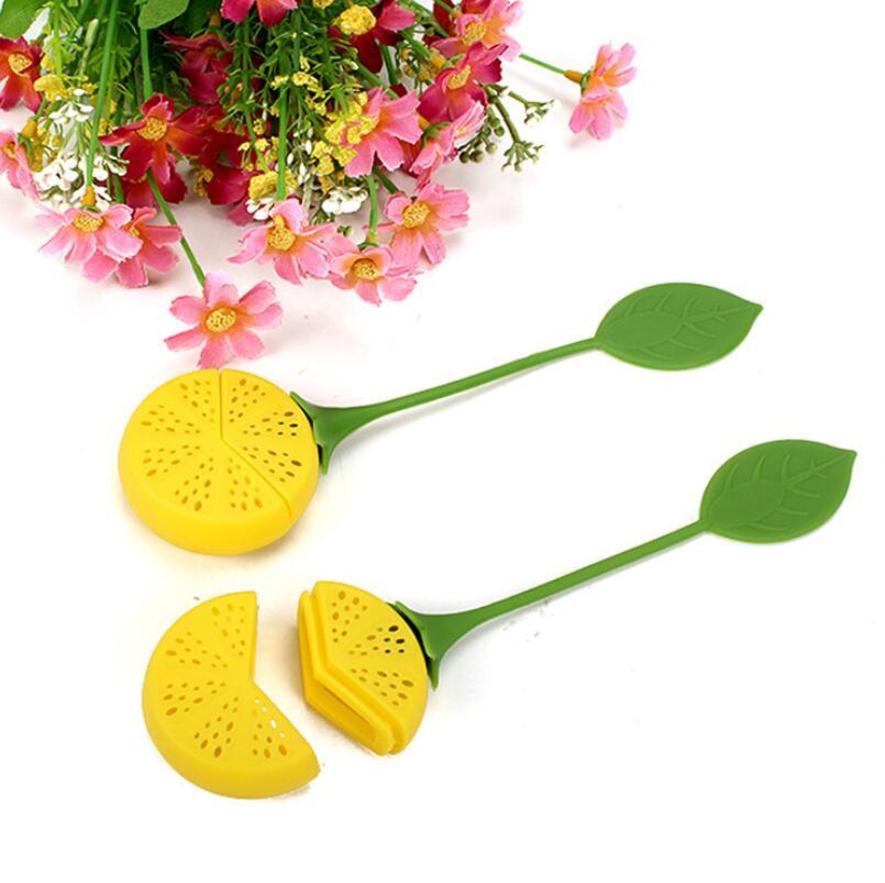 سيليكون الشاي مصفاة الليمون أوراق الشاي حقيبة تصفية العشبية التوابل الشراب وير حقيبة المساعد على التحلل اكسسوارات أدوات LX4080