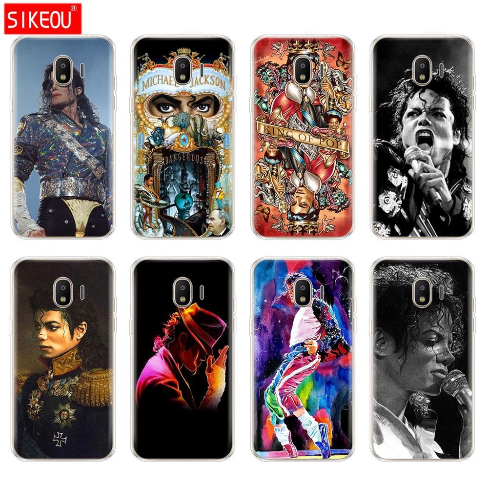 Funda para Samsung galaxy J2 core J8 j6 J4 plus 2018 cubierta funda para Samsung galaxy s10 SE plus Michael Jackson bailando rey diseño