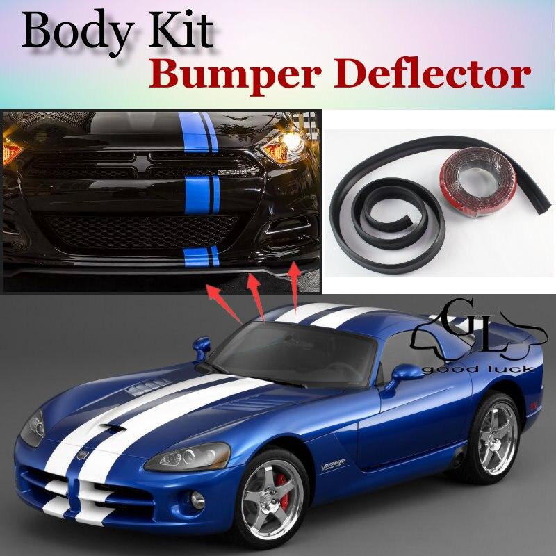 Parachoques labio Deflector los labios para Dodge Viper fase RT/SRT/SR/GTS Spoiler frontal falda para TG Fans de ajuste/Kit de cuerpo/de