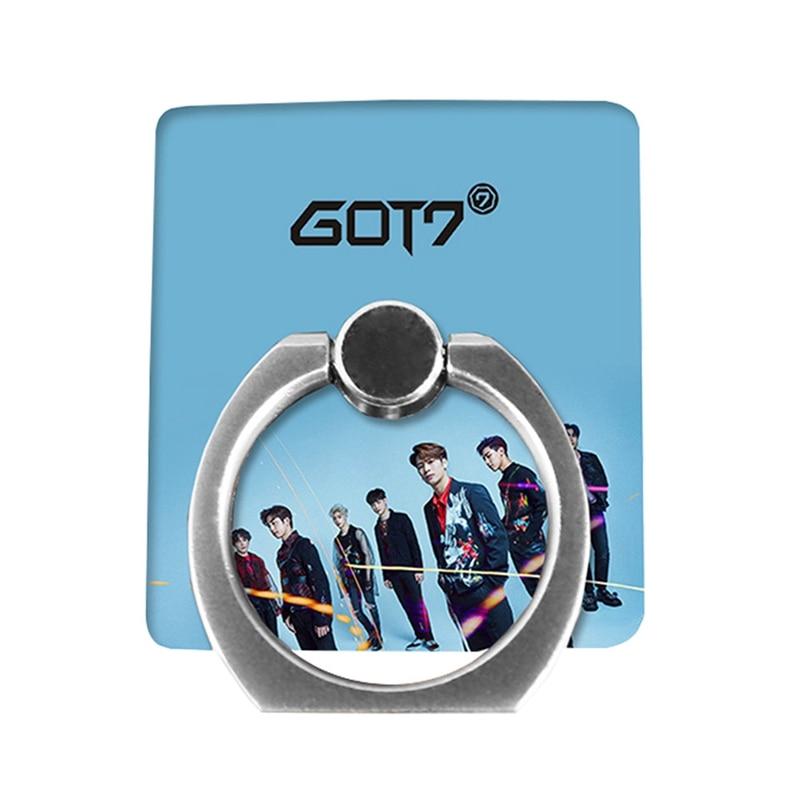 Nuevo álbum de GOT7, Jackson, joven, Youngjae, Yugyeom, bambú con hebilla de teléfono, soporte de anillo Universal