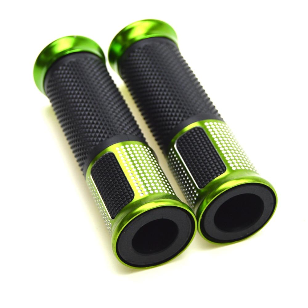 Empuñadura verde de 22mm para motocicleta, para moto Dirt Pit Bike, ciclomotor