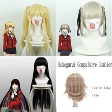 Kakegurui Compulsive Gambler Mary Saotome Momobami Kirari Jabami Yumeko Synthetic Hair Cosplay Costume Wigs +Wig Cap