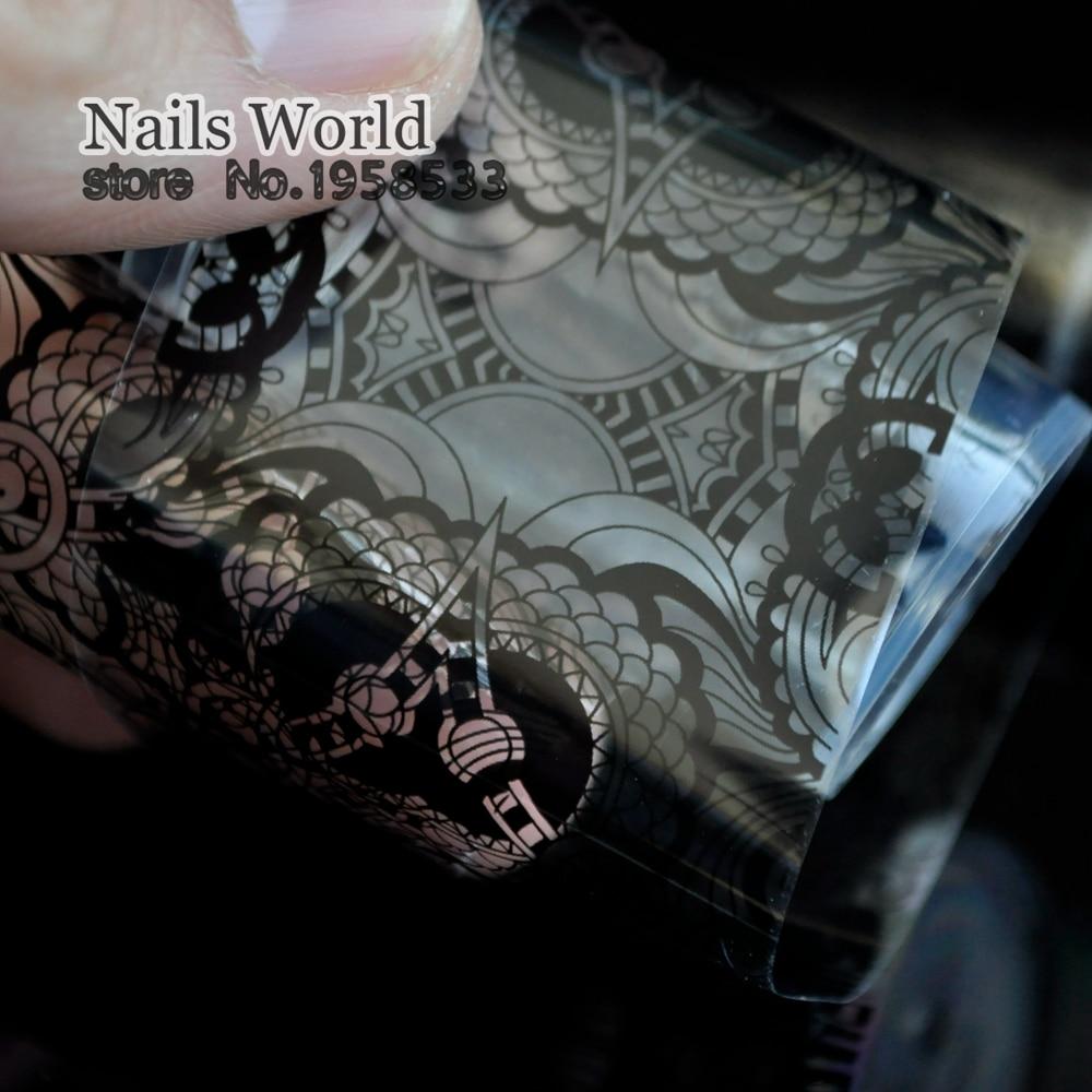 Fashion Nail Art Lace Decoration Nail Foil Complex patterns Clear Base Sticker 1 Meter 213
