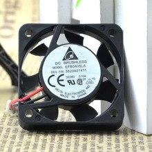 Livraison gratuite Delta Electronics EFB0405LA DC5V 0.1A serveur ventilateur ventilateur 2 fils 40x40x10mm 40mm 4 cm refroidisseur de refroidissement