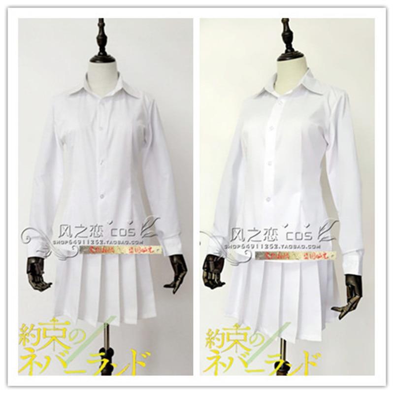 The Promised Neverland Yakusoku no Neverland Grace Field House Emma Ema Outfit Dress Anime Manga Cosplay Costume
